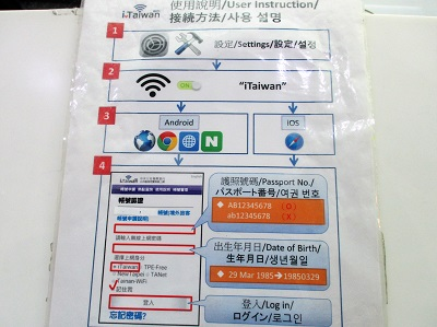 iTaiwanの設定方法