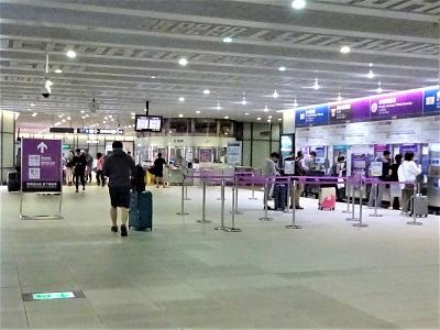 桃園空港から台北駅へMRTでの行き方