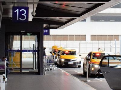 桃園空港から台北までのタクシーでのアクセス