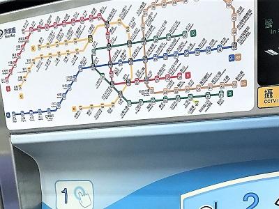台北MRTの駅の路線図