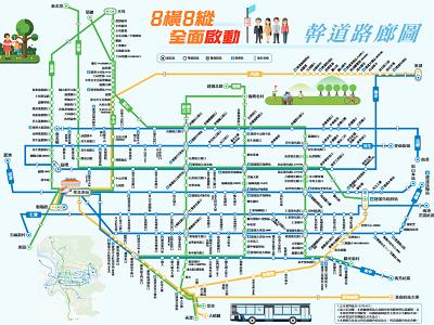 台北のバスの路線図