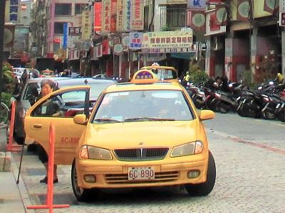 台湾のタクシーの乗り方や予約