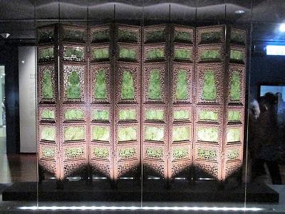 故宮博物院の翡翠の屏風1