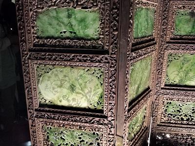 故宮博物院の翡翠の屏風2