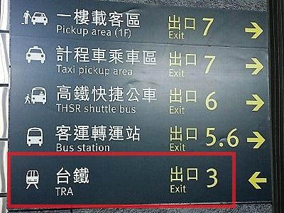 新幹線台中駅から台鉄新烏日駅までの行き方