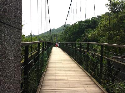 十分瀑布のつり橋