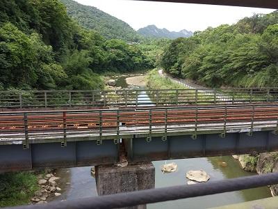 十分瀑布の平渓線の線路