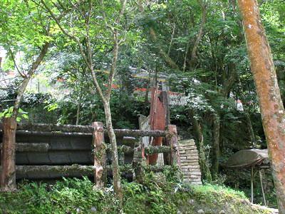 十分瀑布と平渓線の電車