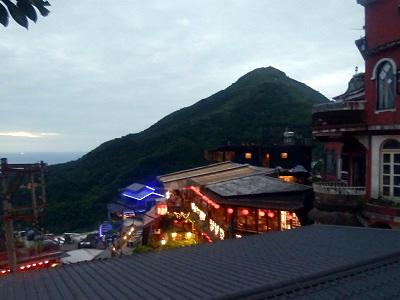九份茶房からの夜景の写真