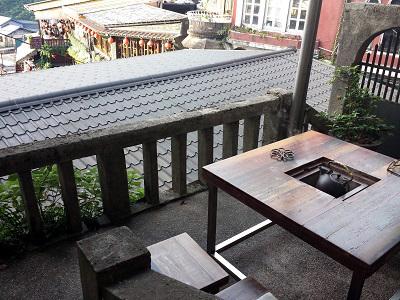 九份茶房からの景色の写真