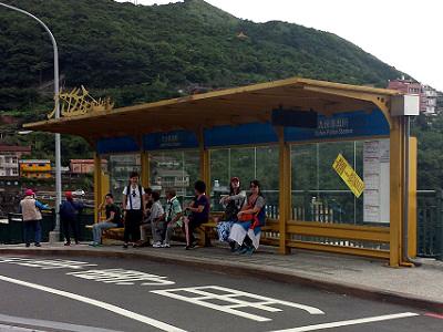 九份からの帰りのバス停の場所