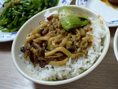 金峰魯肉飯の魯肉飯の感想
