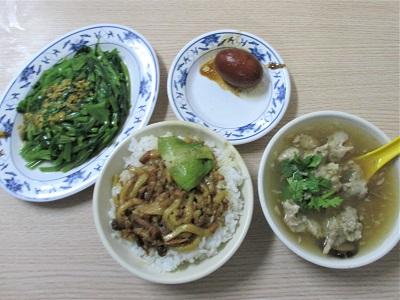 金峰魯肉飯のメニュー