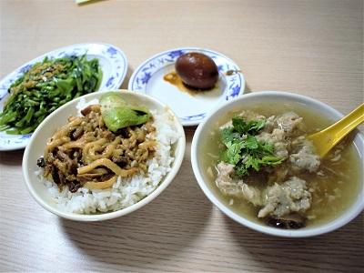 金峰魯肉飯のメニューを食べた感想