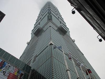 台北101展望台の雨の日