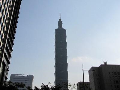 台北101展望台の晴れの日
