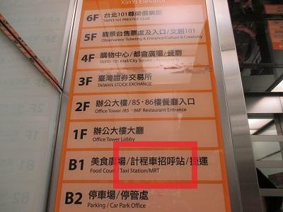 台北101フロアガイド