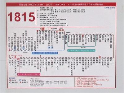 台北科技大学から野柳へのバス乗り場