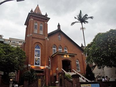 淡水観光スポットの淡水教会
