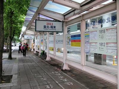 台北から水湳洞へのバス乗り場