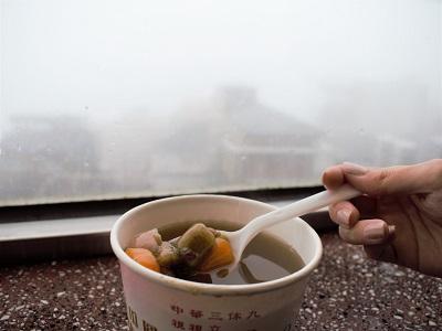 阿柑姨芋圓のイートインスペース窓側