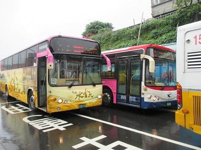 九份から瑞芳駅へのバス