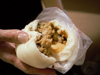 洪記豆漿大王の鮮肉包の中身