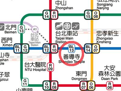 阜杭豆漿(フーハン・ドゥジャン)の最寄り駅は善導寺