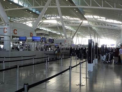 福岡空港国際線から台北桃園空港へ