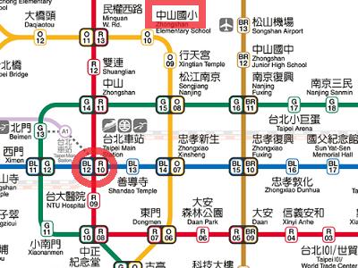 中山國小駅の場所