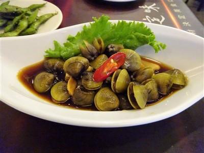 鮮定味生猛海鮮(錦州街店)のシジミのしょうゆ漬け1