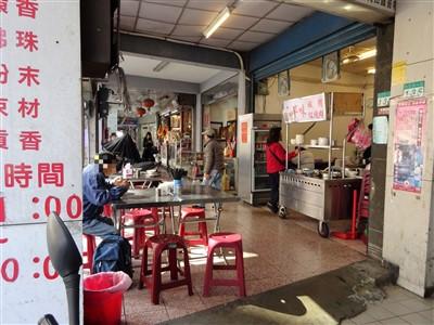華西街鹹粥店の外観