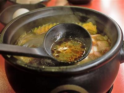 老先覺麻辣窯燒鍋台北農安店の麻辣スープ