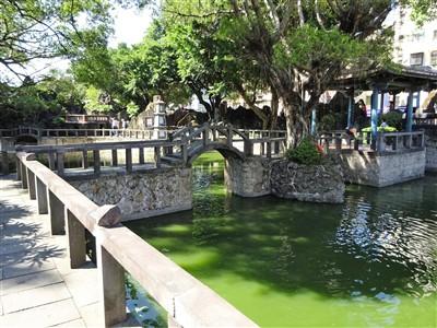 林本源園邸(林家花園)の榕蔭大池