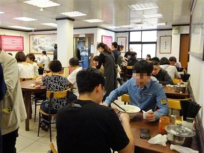永康牛肉麺の2階席