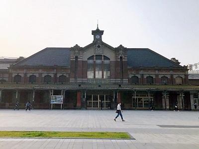 旧台中駅舎前