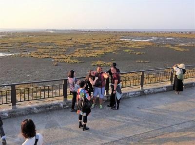 高美湿地の観光